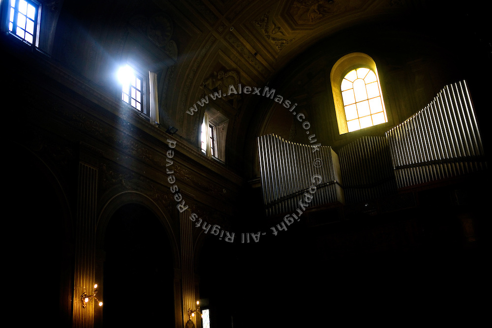 Sunlight is entering The Church of Immacolata Concezione (Church of Cappuccini), in Rome, Italy, where Father Carmine de Filippis, 55, an exorcist since 1983 normally resides.<br /> <br /> FOR MORE INFORMATION PLEASE WRITE TO ALEX@ALEXMASI.CO.UK<br /> <br /> **TEXT AND LENGHTY INTERVIEWS AVAILABLE**