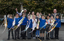 "Over 300 children from primary schools across Edinburgh are taking part in lantern making workshops this October, as part of the activities leading up to Diwali, the annual Festival of Light celebrated by Hindus, Jains and Sikhs throughout the world.<br /> <br /> The workshops, for P6 and 7 pupils, are being led by Leith-based artists, Vision Mechanics. The lanterns will be designed as ""flowers of light"", and constructed using special waterproof paper to withstand the Scottish weather.<br /> <br /> Pictured: Lord Provost, Frank Ross  and Festival organiser, Mohindra Dhall with pupils from P6 of St Mary's RC Primary School"
