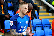 Peterborough United midfielder Marcus Maddison (11) walks out before the EFL Sky Bet League 1 match between Peterborough United and Southend United at London Road, Peterborough, England on 3 February 2018. Picture by Nigel Cole.