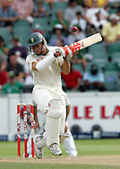 Ryan McLaren avoids a Stuart Broad delivery during day 3 of the 4th Castle Test between South Africa and England held at The Bidvest Wanderers Stadium in Johannesburg, South Africa on the 16 January 2010.Photo by:  Ron Gaunt/SPORTZPICS