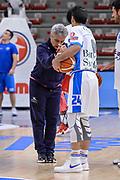 DESCRIZIONE : Campionato 2015/16 Serie A Beko Dinamo Banco di Sardegna Sassari - Consultinvest VL Pesaro<br /> GIOCATORE : Roberto Venerandi Rok Stipcevic<br /> CATEGORIA : Fair Play Before Pregame<br /> SQUADRA : Dinamo Banco di Sardegna Sassari<br /> EVENTO : LegaBasket Serie A Beko 2015/2016<br /> GARA : Dinamo Banco di Sardegna Sassari - Consultinvest VL Pesaro<br /> DATA : 23/11/2015<br /> SPORT : Pallacanestro <br /> AUTORE : Agenzia Ciamillo-Castoria/L.Canu