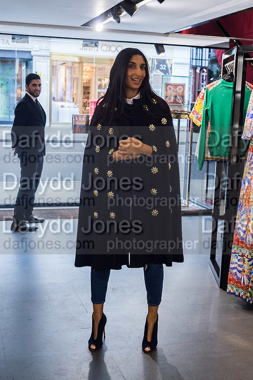 NOREEN GOODWIN;  , Anna Scolaro hosts a charity shopping event at  Dolce and Gabbana, 175 Sloane St. London. In aid of TeamFox.org for Parkinsons. 10 February 2016