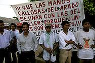 occupation of the fincas in Colonia la Libertad by peasants  Chiapas  Mexico    .  .occupation des Fincas ?  la colonia la Liertad par les paysans  Chiapas  Mexique  .    L1244  /  R00110  /  P117042..PAYSANS SANS TERRE