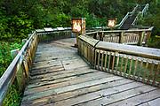 Interpretive boardwalk at Cave and Basin National Historic Site, Banff National Park, Alberta, Canada