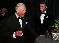 The Prince of Wales, The Duke of Cambridge and The Duke of Sussex attend the Global Premiere of Netflix's 'Our Planet' at The National History Museum, London, UK, on the 4th April 2019. Picture by Ken Goff/IPA-Pool. 04 Apr 2019 Pictured: Prince Charles, Prince of Wales, David Beckham. Photo credit: MEGA TheMegaAgency.com +1 888 505 6342