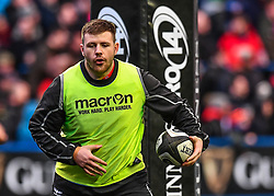 Scarlets' Rob Evans during the pre match warm up - Mandatory by-line: Craig Thomas/Replay images - 31/12/2017 - RUGBY - Cardiff Arms Park - Cardiff , Wales - Blues v Scarlets - Guinness Pro 14