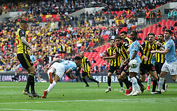 Gabriel Jesus of Manchester City scores but his goal is disallowed for offside - Mandatory by-line: Arron Gent/JMP - 18/05/2019 - FOOTBALL - Wembley Stadium - London, England - Manchester City v Watford - Emirates FA Cup Final