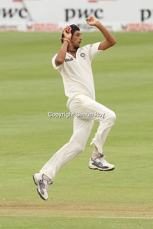 CAPE TOWN, SOUTH AFRICA - 2 January 2011, Ishant Sharma of India in delivery stride during day 1 of the 3rd Castle Test between South Africa and India held at Sahara Park Newlands Stadium in Cape Town, South Africa on the 2 January 2011 .Photo by: Shaun Roy
