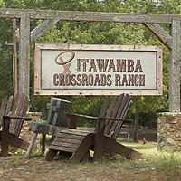 Itawamba Crossroads Ranch entrance.