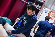 Preparazione<br /> Banco di Sardegna Dinamo Sassari - Germani Basket Leonessa Brescia<br /> Legabasket Serie A LBA PosteMobile 2017/2018<br /> Sassari, 08/04/2018<br /> Foto L.Canu / Ciamillo-Castoria