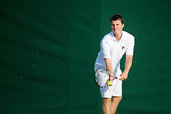 LONDON, ENGLAND - Thursday, June 25, 2009: Kenneth Skupski (GBR) during the Mixed Doubles 1st Round match on day four of the Wimbledon Lawn Tennis Championships at the All England Lawn Tennis and Croquet Club. (Pic by David Rawcliffe/Propaganda)