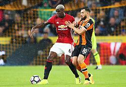 Paul Pogba of Manchester United challenges Robert Snodgrass of Hull City  - Mandatory by-line: Matt McNulty/JMP - 27/08/2016 - FOOTBALL - KC Stadium - Hull, England - Hull City v Manchester United - Premier League