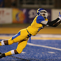 Tupelo wide receiver Sirmarcus Evans stretches out for a catch from quarterback Stephon McGlaun only to have the ground break up for an incomplete pass in the second quarter against Columbus.