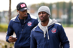 Jalan McCloud of Bristol Flyers and Fred Thomas of Bristol Flyers arrive at Cheshire Phoenix - Photo mandatory by-line: Robbie Stephenson/JMP - 31/03/2019 - BASKETBALL - Cheshire Oaks Arena - Ellesmere Port, England - Cheshire Phoenix v Bristol Flyers - British Basketball League Championship