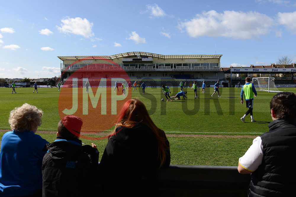 Bristol Rovers open training session - Photo mandatory by-line: Dougie Allward/JMP - Mobile: 07966 386802 - 31/03/2015 - SPORT - Football - Bristol - Memorial Stadium - Vanarama Football Conference - Bristol Rovers Open Training Session