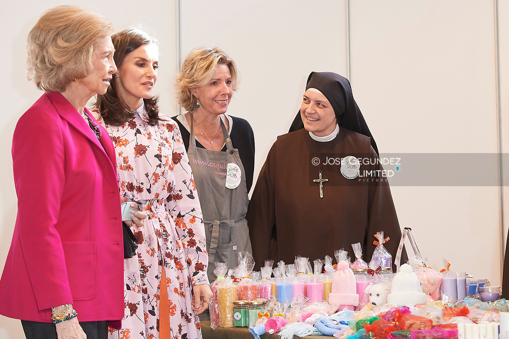 Queen Letizia of Spain, Simoneta Gomez-Acebo attend 'Rastrillo Nuevo Futuro' on November 19, 2019 in Madrid, Spain