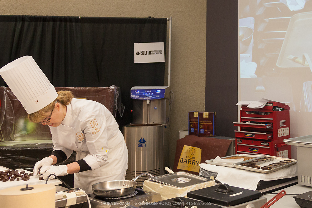 The competitors at work in their kitchens at the World Chocolate Masters Canadian Selection, January 20, 2013.