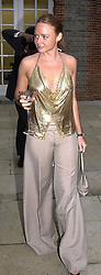 Designer STELLA McCARTNEY, daughter of Sir Paul<br />  McCartney, at a dinner in London on 20th June 2000.<br /> OFO 160<br /> © Desmond O'Neill Features:- 020 8971 9600<br />    10 Victoria Mews, London.  SW18 3PY <br /> www.donfeatures.com   photos@donfeatures.com<br /> MINIMUM REPRODUCTION FEE AS AGREED.<br /> PHOTOGRAPH BY DOMINIC O'NEILL