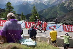\cammol of Veloconcept Cycling Team reaches the final meters of La Course 2017 - a 67.5 km road race, from Briancon to Izoard on July 20, 2017, in Hautes-Alpes, France. (Photo by Balint Hamvas/Velofocus.com)