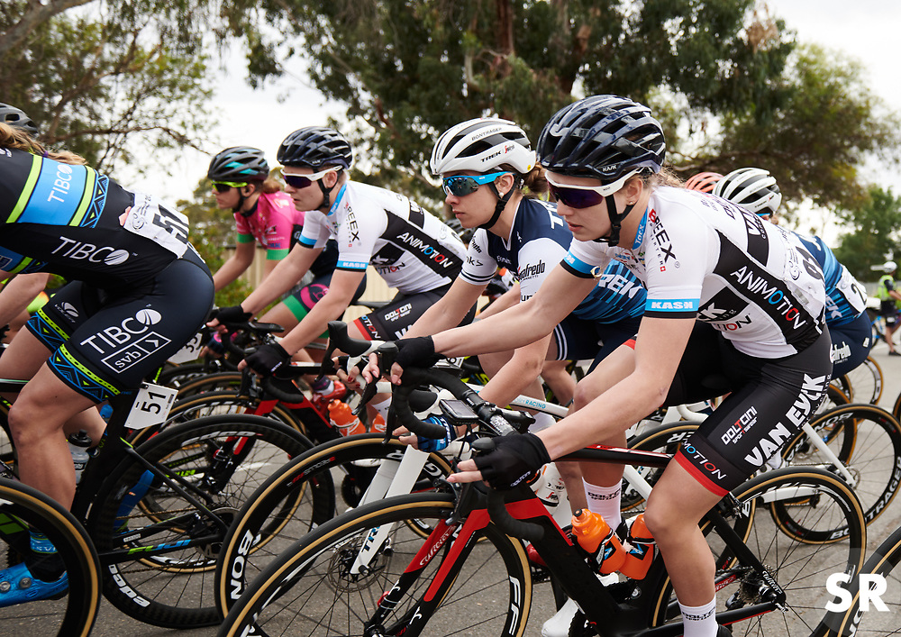 Letizia Paternoster (ITA) in the bunch at Santos Women's Tour Down Under 2019 - Stage 1, a 112.9 km road race from Hahndorf to Birdwood, Australia on January 10, 2019. Photo by Sean Robinson/velofocus.com