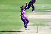 Jenny Gunn of Loughborough Lightning bowling during the Kia Women's Cricket Super League semi-final match between Loughborough Lightning and Southern Vipers at the 1st Central County Ground, Hove, United Kingdom on 1 September 2019.