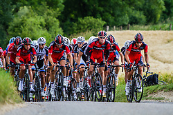 Team BMC leading the pack, Stage 3 Buchten - Buchten, Ster ZLM Toer, Buchten, The Netherlands, 20th June 2014, Photo by Thomas van Bracht / Peloton Photos