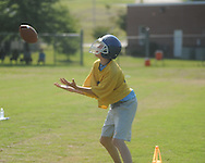Oxford Middle School football camp in Oxford, Miss. on Thursday, July 22, 2010.