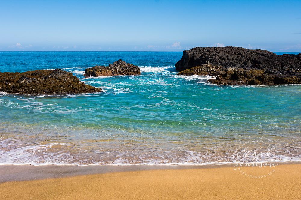 Idyllic Lumahai Beach, Kauai, Hawaii