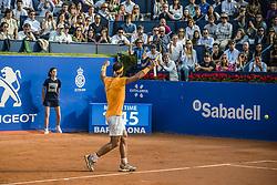April 27, 2018 - Barcelona, Catalonia, Spain - Barcelona, Spain. 27 April, 2018: .RAFAEL NADAL (ESP) celebrates his victory against Martin Klizan (SVK) in their quarter final of the 'Barcelona Open Banc Sabadell' 2018. Nadal won 6:0, 7:5 (Credit Image: © Matthias Oesterle via ZUMA Wire)