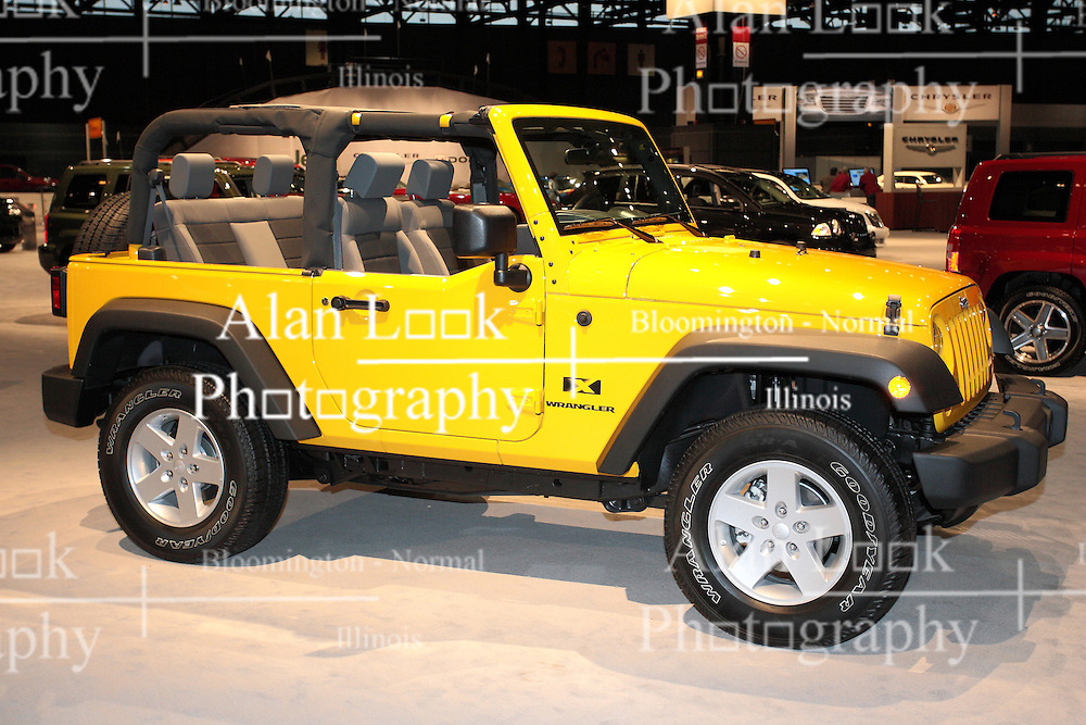 11 February 2009: Jeep Wrangler. The Chicago Auto Show is a charity event of the Chicago Automobile Trade Association (CATA) and is held annually at McCormick Place in Chicago Illinois.