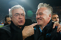 FOOTBALL - FRENCH CHAMPIONSHIP 2009/2010 - L1 - OLYMPIQUE MARSEILLE v STADE RENNAIS - 5/05/2010 - PHOTO PHILIPPE LAURENSON / DPPI - DIDIER DESCHAMPS AND JEAN-CLAUDE DASSIER (OM)