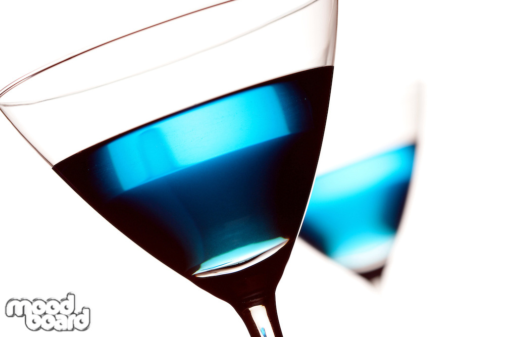 Drink in martini glass - close-up
