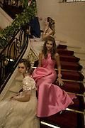 LILY COLLINS AND MARIA-TERESA FRERING , Crillon Debutante Ball 2007,  Crillon Hotel Paris. 24 November 2007. -DO NOT ARCHIVE-© Copyright Photograph by Dafydd Jones. 248 Clapham Rd. London SW9 0PZ. Tel 0207 820 0771. www.dafjones.com.