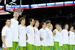 Team Slovenia during friendly match between National Teams of Slovenia and New Zealand before World Championship Spain 2014 on August 16, 2014 in Kaunas, Lithuania. Photo by Vid Ponikvar / Sportida.com