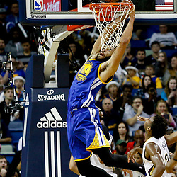 Dec 13, 2016; New Orleans, LA, USA;  Golden State Warriors center JaVale McGee (1) dunks against the New Orleans Pelicans during the second half of a game at the Smoothie King Center. The Warriors defeated the Pelicans 113-109. Mandatory Credit: Derick E. Hingle-USA TODAY Sports