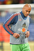Sunderland defender Younes Kaboul during the Barclays Premier League match between Crystal Palace and Sunderland at Selhurst Park, London, England on 23 November 2015. Photo by Simon Davies.