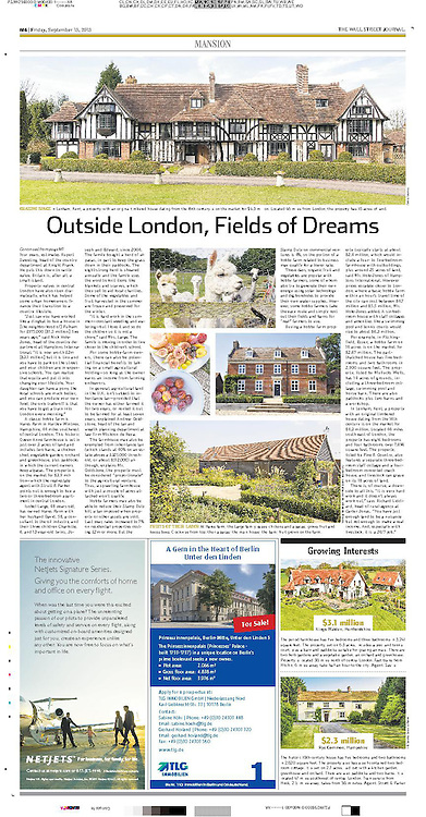 Hares Farm, Hampshire. Feature for The Wall Street Journal
