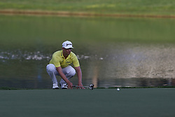 August 12, 2017 - Charlotte, North Carolina, United States - Chris Stroud lines up a putt on the 17th green during the third round of the 99th PGA Championship at Quail Hollow Club. (Credit Image: © Debby Wong via ZUMA Wire)