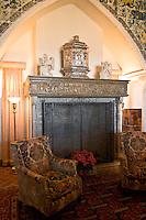 Hearst Castle Living Room on Casa Grade North Tour Three, San Simeon, California