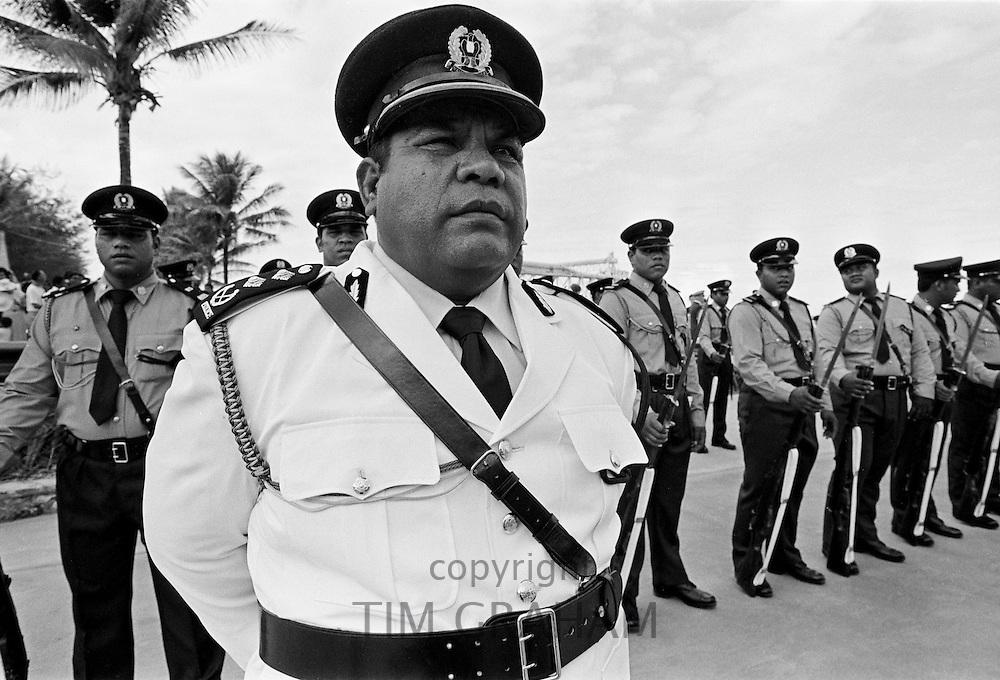 Military parade in Nauru, South Pacific