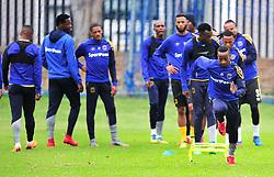 Cape Town--180329 Cape Town City midfielder Thabo Nodada at training preparing for heir Nedbank Cup game against Sundowns on sunday  .Photographer;Phando Jikelo/African News Agency/ANA