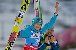 30.01.2016, Normal Hill Indiviual, Oberstdorf, GER, FIS Weltcup Ski Sprung Damen, Siegerehrung, im Bild Daniela Iraschko Stolz (AUT, 2. Platz) // 2nd placed Daniela Iraschko Stolz, of Austriacelebrates during Award ceremony of FIS Ski Jumping World Cup Ladis at the Schattenbergschanze, Oberstdorf, Germany on 2016/01/30. EXPA Pictures © 2016, PhotoCredit: EXPA/ Peter Rinderer