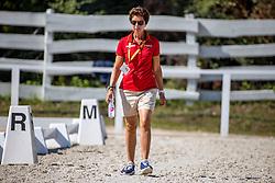 THEODORESCU Monica (Bundestrainer Dressur GER)<br /> Impression am Abreiteplatz<br /> Junge Reiter Einzelentscheidung<br /> Pilisjászfalu - FEI Youth Dressage EUROPEAN CHAMPIONSHIPS 2020<br /> 20. August 2020<br /> © www.sportfotos-lafrentz.de/Stefan Lafrentz