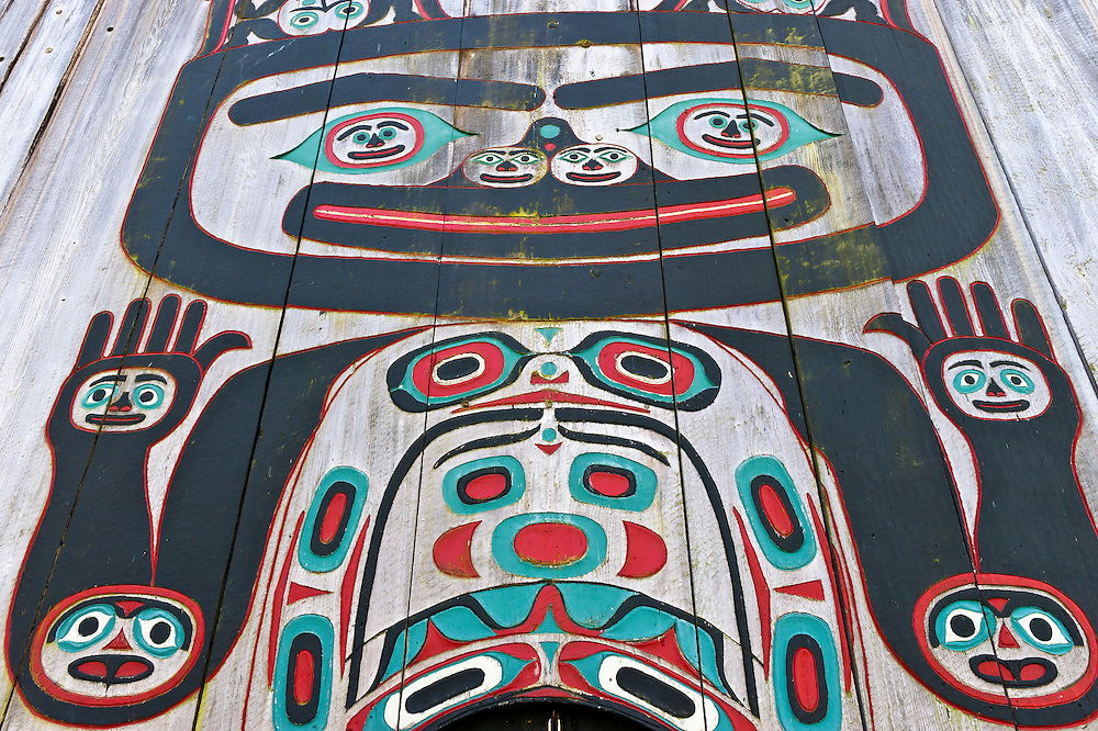Exterior, Chief Shakes Tribal House, Wrangell, Southeast Alaska USA