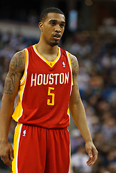 March 7, 2011; Sacramento, CA, USA;  Houston Rockets shooting guard Courtney Lee (5) before a free throw against the Sacramento Kings during the second quarter at the Power Balance Pavilion. Houston defeated Sacramento 123-101.