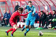 ENSCHEDE - 17-12-2016, FC Twente - AZ, Grolsch Velst Stadion, FC Twente speler Hidde ter Avest, AZ speler Thomas Ouwejan.