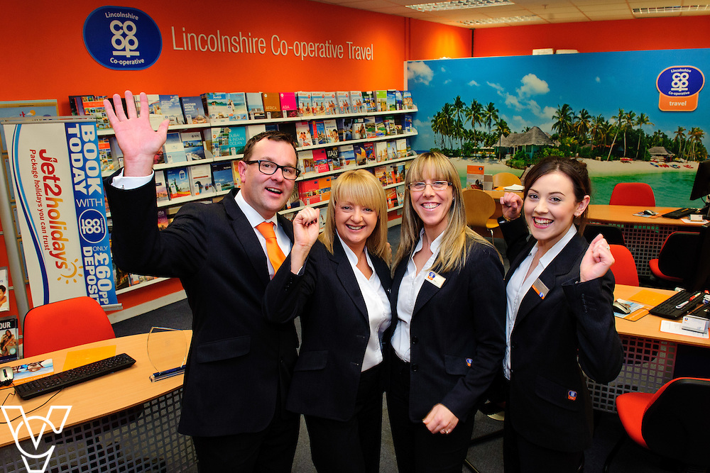 Pictured is, from left, Lincolnshire Co-operative Boston Travel branch staff Zane Ground, Lizzie Brackenbury, Ashley Cilek and Bryony Clark.  The staff at the Lincolnshire Co-op's Boston Travel branch were awarded gold at the Lincolnshire Co-op's staff awards.<br /> <br /> Picture: Chris Vaughan/Chris Vaughan Photography<br /> Date: February 8, 2016