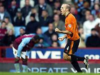 Photograph: Scott Heavey, Digitalsport<br /> Aston Villa v Wolverhampton Wanderers. FA Barclaycard Premiership. 14/12/2003.<br /> Alex Rae celebrates pulling one back for Wolves