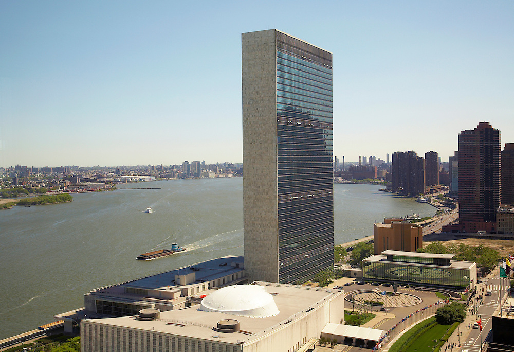 View of the East River and United Nations from 845 United Nations Plaza, 23rd floor
