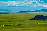 Mongolie, Arkhangai, campement nomade dans la region de Ikh Tamir // Mongolia, Arkhangai province, nomad camp near Ikh Tamir